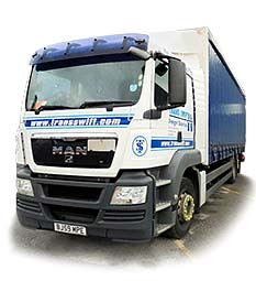 One of Transswift's MAN Mid size trucks based at our Transport office in Rochdale