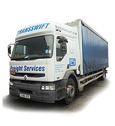 One of Transswift's Renault Trucks at our Transport office in Rochdale