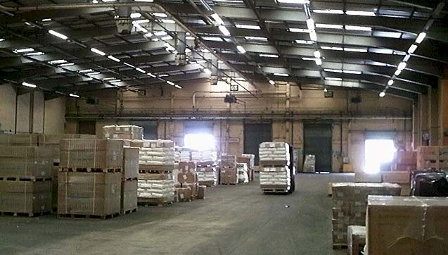 Our extensive warehouse facility at the Chichester Street depot, Rochdale.